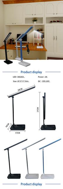 2020 nowa lampa biurkowa lampa stołowa led z czujnikiem dotyku USB ściemnialne światła trzy poziomy jasności regulowana lampka do czytania tanie i dobre opinie MIHEAL Aluminium MW-EK034 Tiffany Dotykowy włącznik wyłącznik Żarówki led Lampy biurkowe 2 years Nikiel szczotkowany