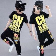 unidslote envo libre negro traje de hip hop para nios muchachas de los