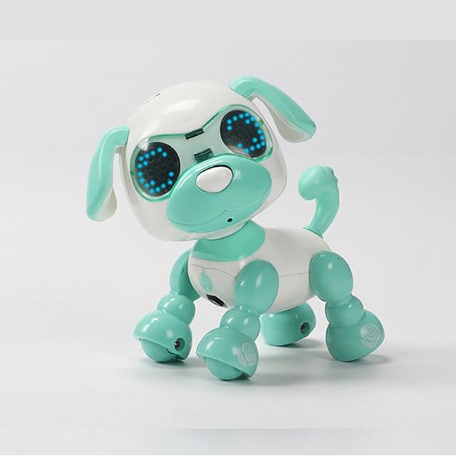 UInteractive Smart Robot Toy Dog Electronic Pet Puppy LED Eyes Sound Recording Sing Sleep Cute Action Education Robotic Toys Dog