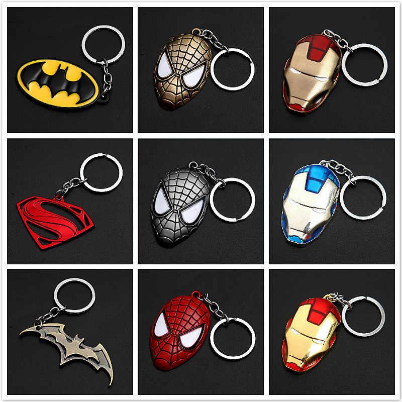 Brinquedos marvel avengers capitão américa escudo chaveiro homem aranha homem de ferro máscara chaveiro brinquedos hulk batman chaveiro presente chave brinquedos