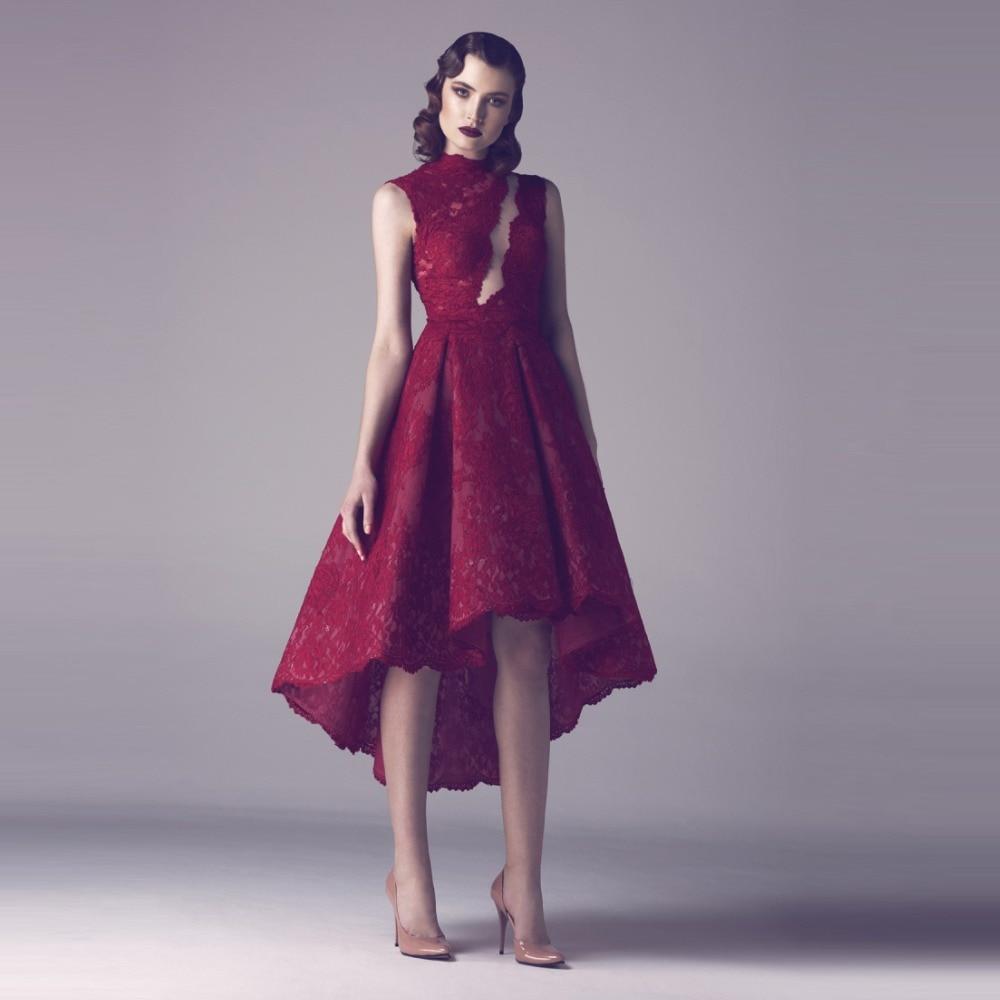 Baratos Sexy Lila Corto Mini Vestidos de Coctel Del Cordón robe de ...