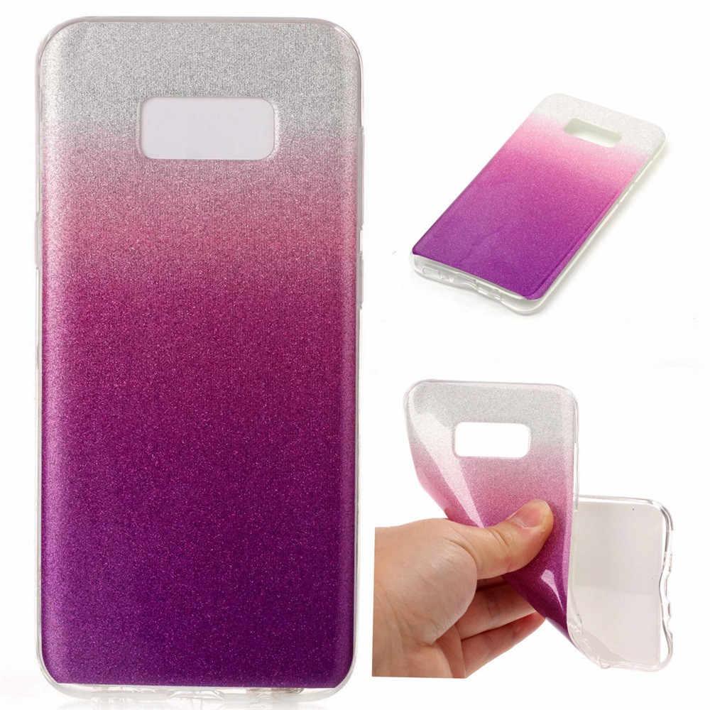 Мягкий градиентный цветной чехол для samsung Galaxy S8 Plus, samsung Galaxy S8, легкий чехол для телефона telefon knil【flm