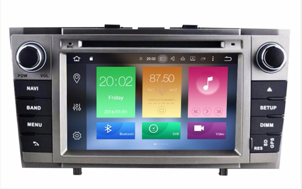 4g lte 7 android 8 0 car stereo for toyota avensis t27. Black Bedroom Furniture Sets. Home Design Ideas