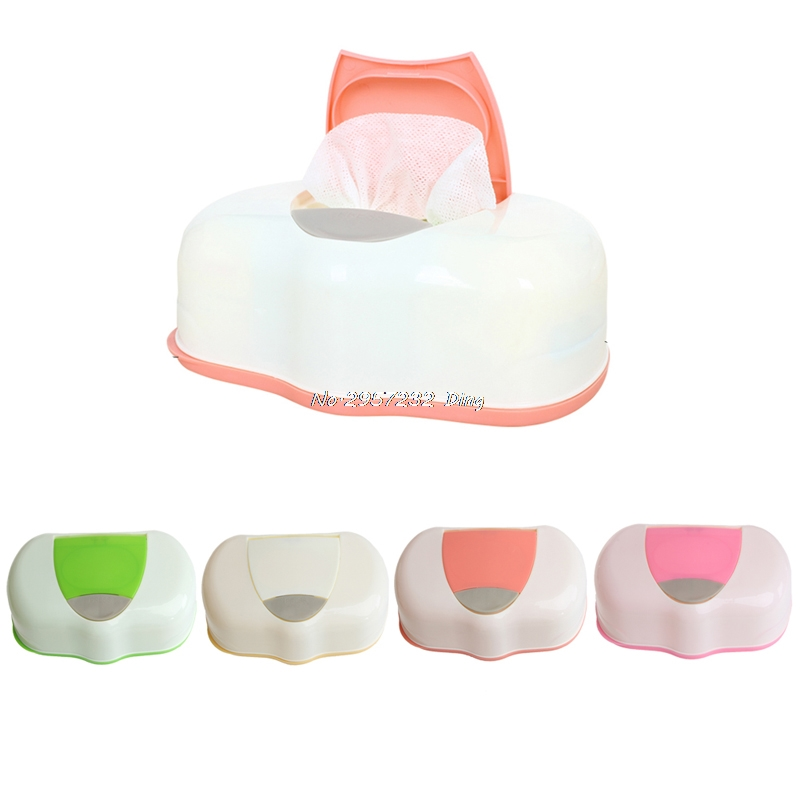 80 Sheets Wet Tissue Box Plastic Wet Wipes Storage Case Box Refillable Container , Baby Wipes Storage Organizer Box CHE24