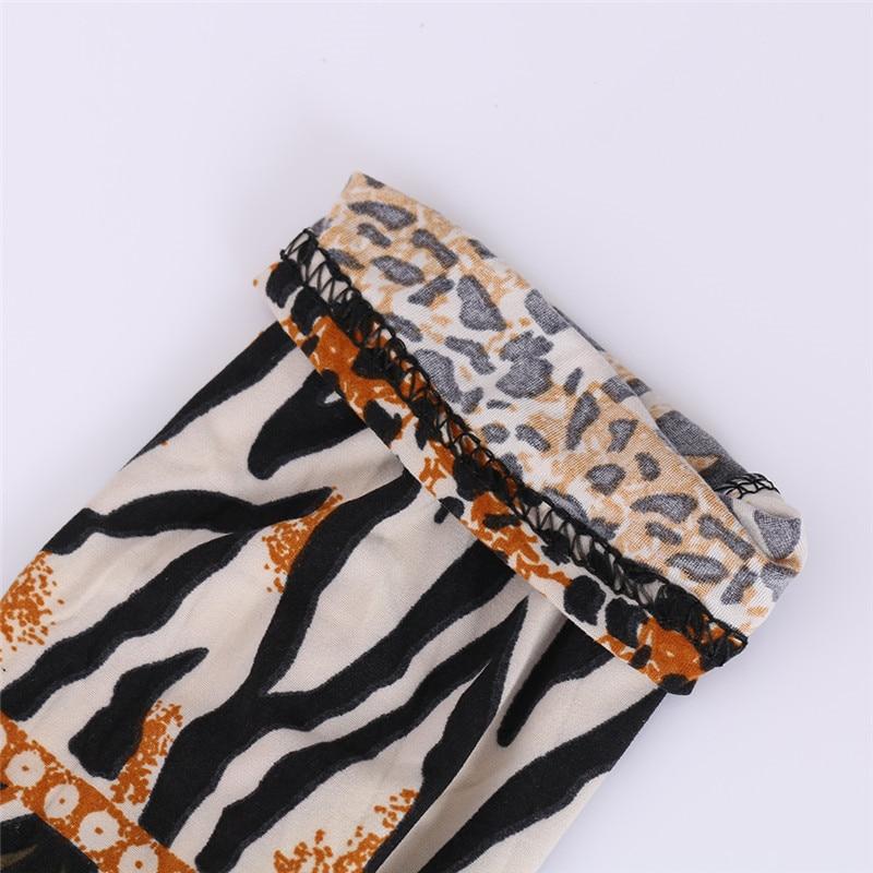 Seksual Ayaqlı Qadınlar Leopard Leggings Çəhrayı Şalvar - Qadın geyimi - Fotoqrafiya 6