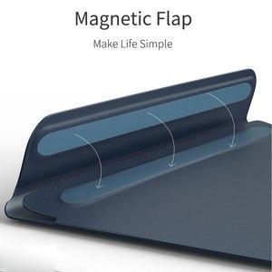 Image 2 - WIWU Neueste Laptop Sleeve für MacBook Air 13 Fall Wasserdichte Laptop Tasche Fall für MacBook Pro 13 15 PU Leder notebook Tasche Fall