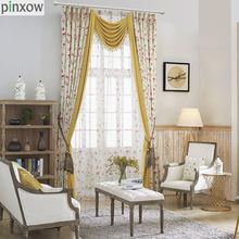 Luxury Printed Rustic Country Curtains Bedroom Ready Made Window Panel Curtains  Living Room Butterfly Fabric Drapes Part 64