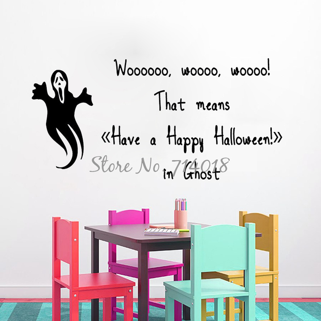 ghost wall decals quote have a happy halloween vinyl decal sticker