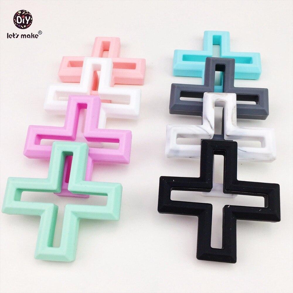 ᗛVamos a hacer Baby teether silicona Cruz dentición DIY artesanía ...