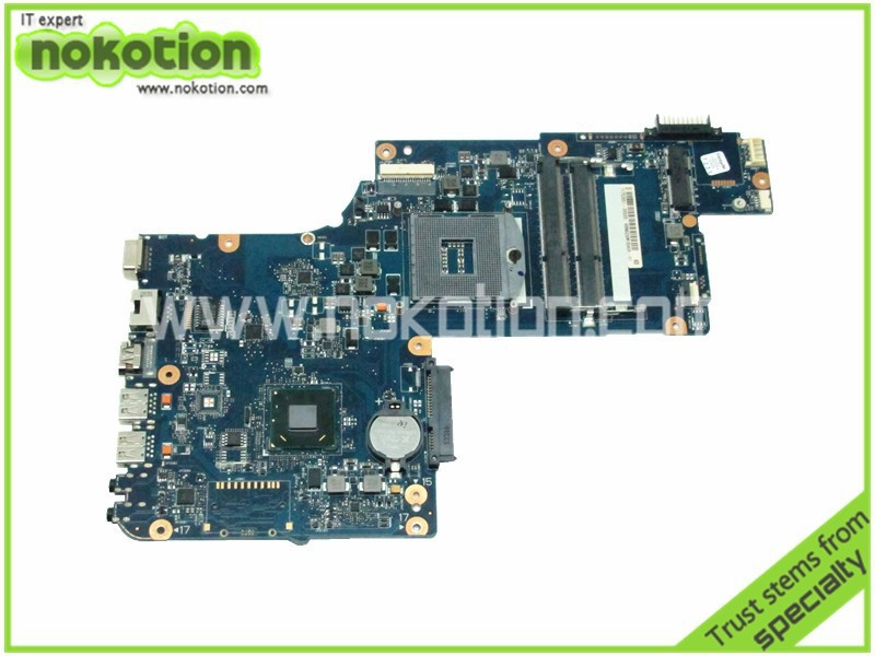 цена NOKOTION laptop motherboard for toshiba satellite C870 C870D H000038230 HM76 GMA HD4000 DDR3
