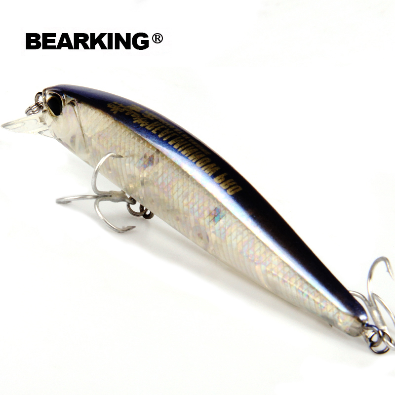 Bearing 1PCS Minnow Fishing Lure Laser Hard Bait Buatan 3D Mata 10cm 14.5g Memancing Wobblers Crankbait Minnows