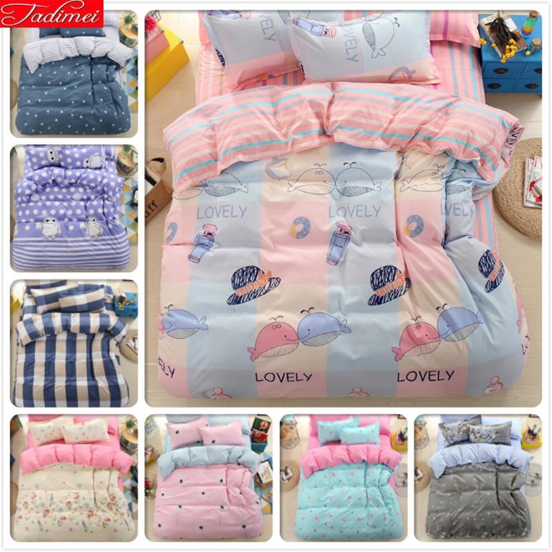 NEW Single Twin Full Double Queen Super King Big Size Duvet Cover 3/4pcs Bedding Set Soft Cotton Bed Linen Adult Kids Bedspreads