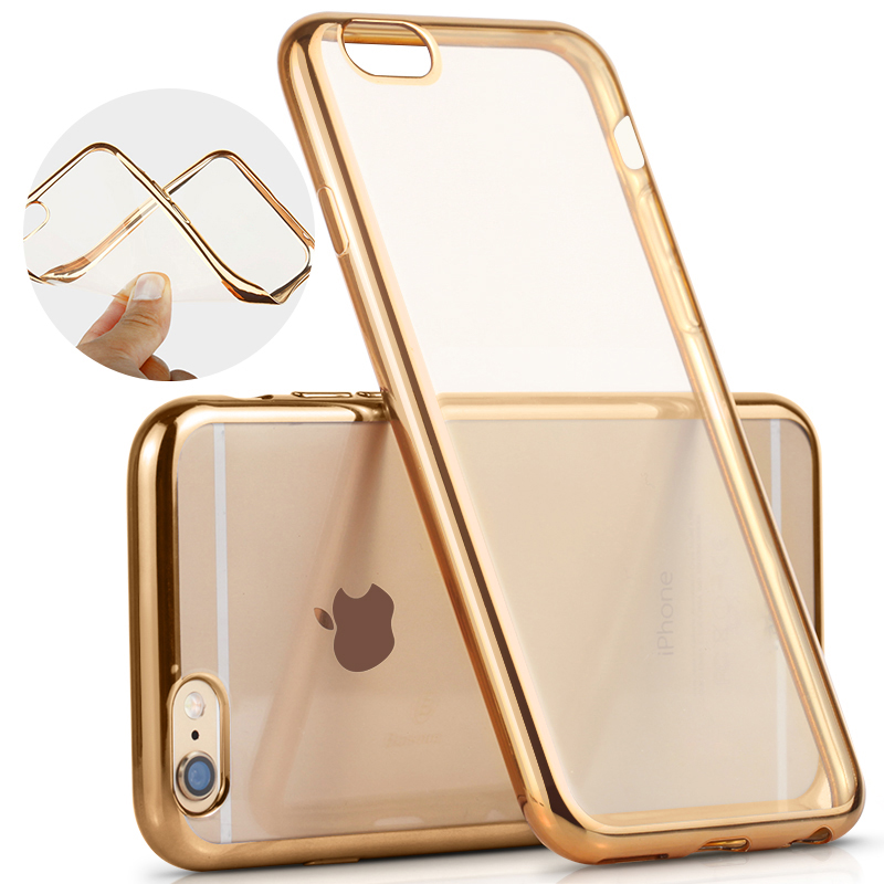 Case For Apple iPhone 6 6S 4.7″/ 6Plus 6S Plus 5.5″ / 5S SE 7 7Plus Royal Luxury Plating TPU Phone silicone soft Back Case Cover