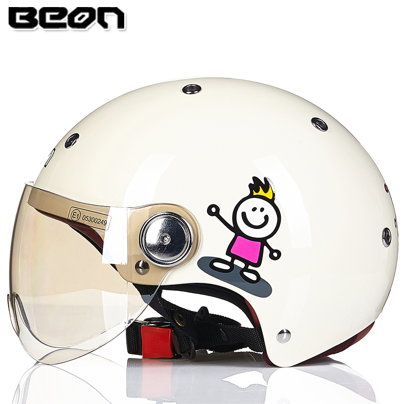 BEON B 103 half face electric car harley helmets capacete casco vintage Scooter motorcycle helmet safety