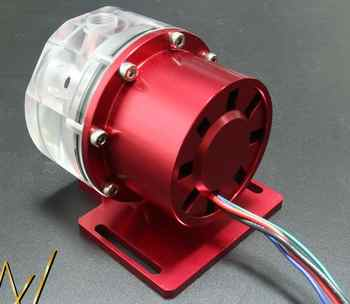 d5 12v water cooling pump use for water cooling with Aluminum alloy cover, P/N:WC-PUMP12V-D5RDL2