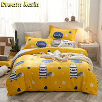 Dream Karin Lovely Animals Pattern Bedding Sets for Kid Soft Cute Duvet Comforter Covers with Pillowcases Home Textile