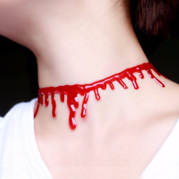 Click here!! New Halloween Horror Sangue Vermelho Gargantilha Colares para  As Mulheres Presentes Cadeia Collier Jóias Partido Do Punk Clássico 2153f43354
