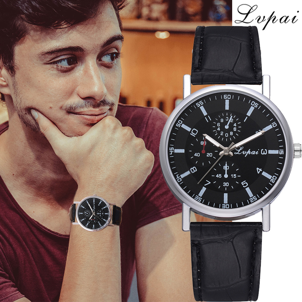 Lvpai Dropshipping Cheap Leather Strap Sport Clock Man Quartz Wristwatch Dress Fashion Luxury Watch Mens Watches Top Brand