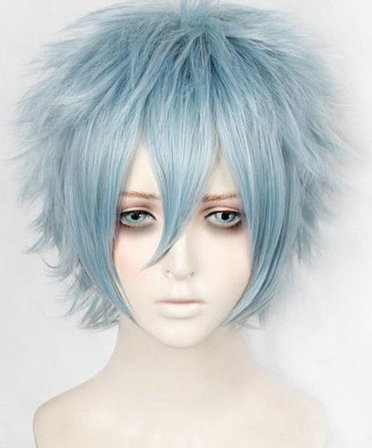 No Hero Academia Boku Shigaraki Tomura Short Gray blue Wig