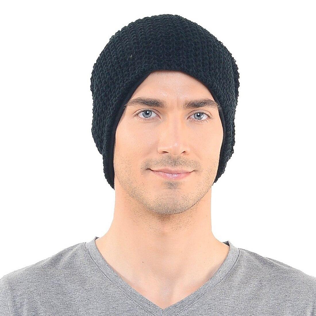 309688a093d Mens slouchy largo Beanie knit CAP para el verano invierno oversize negro  marrón gris en Los hombres de sombrero y gorros de Accesorios de ropa en ...
