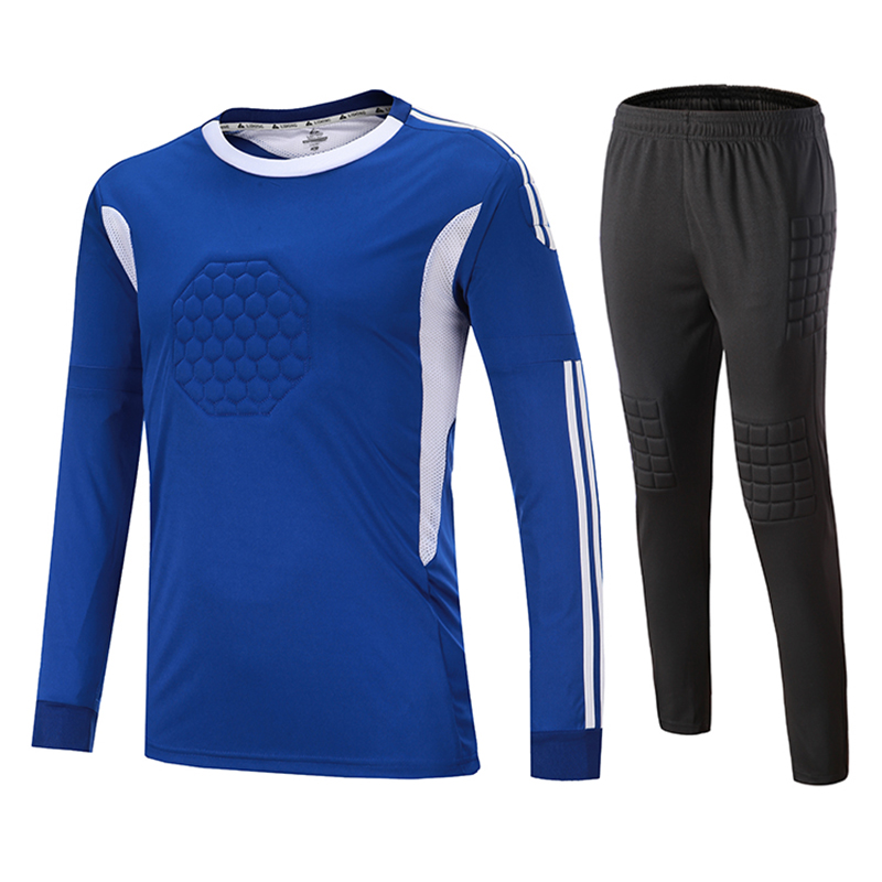 7e2c3ca51b Crianças Adulto de Futebol Goleiro Camisa de futebol Definir Personalizado  Camisas De Futebol de Manga Curta