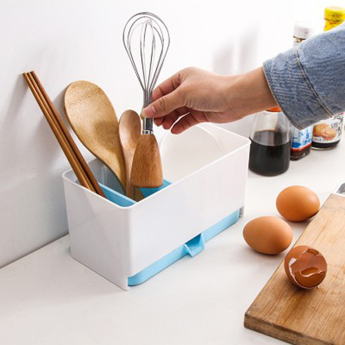 Kitchen Cutlery Utensils Storage Box Drain Tray Holder Office Table  Organizer In Magazines From Office U0026 School Supplies On Aliexpress.com |  Alibaba Group