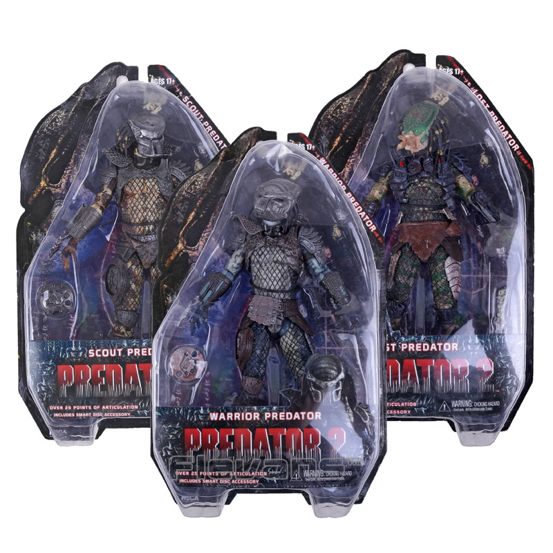 NECA Predator 2 LOST / SCOUT / WARRIOR PREDATOR PVC Action Figure Collectible Model Toy 7 18cm neca a nightmare on elm street 3 dream warriors pvc action figure collectible model toy 7 18cm kt3424