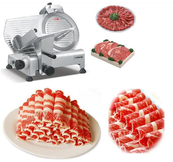 цена на Free shipping Commercial 10 inch Meat Slicer Machine,Frozen Meat Slicer Cutting thickness 0-10MM adjustable