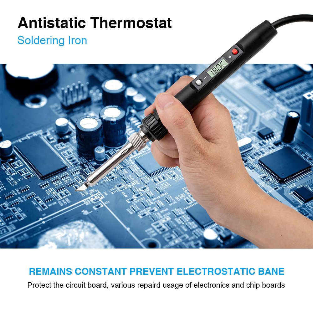60 W/80 W professionnel LCD numérique fer à souder électrique température réglable électrique fer à souder outil Mini soudure