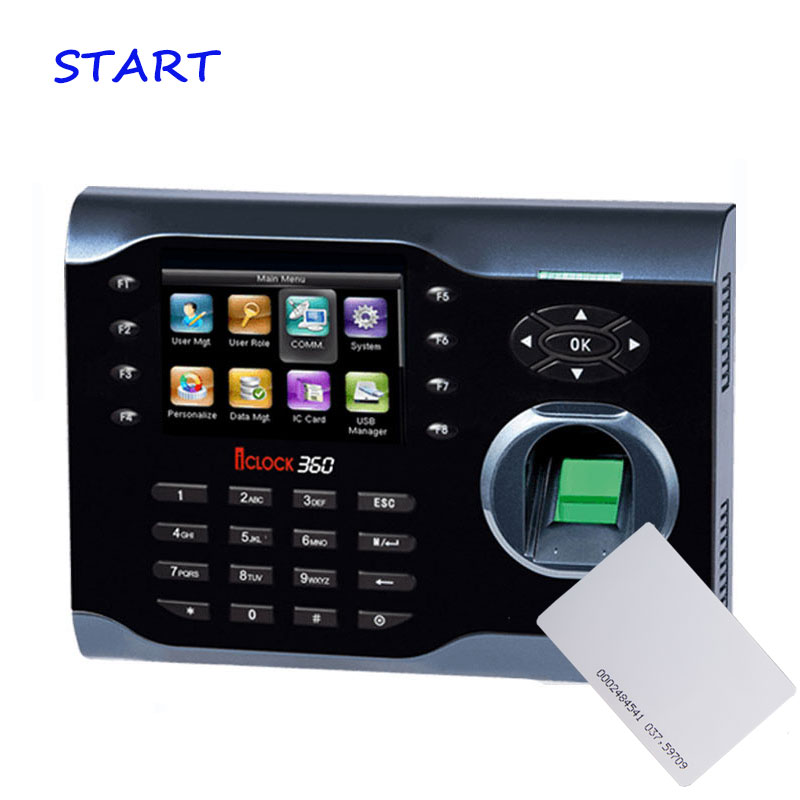ZK ICLOCK360 TCP/IP Biometric Fingerprint Time Attendance With 125Khz EM Card Reader Fingerprint Time Recorder Time ClockZK ICLOCK360 TCP/IP Biometric Fingerprint Time Attendance With 125Khz EM Card Reader Fingerprint Time Recorder Time Clock