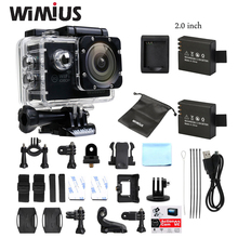 Big Sale ! Wimius WiFi Sports Action Camera Full HD 1080P 30fps Mini Video Helmet Cam 170D Wide Angle DVR Go 30M Pro Waterproof
