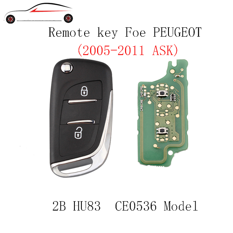 GORBIN Modified Flip Car Remote Key DIY For PEUGEOT 207 208 307 308 408 2005-2011 2Buttons HU83 Blade ASK signal 433Mhz&PCF7961GORBIN Modified Flip Car Remote Key DIY For PEUGEOT 207 208 307 308 408 2005-2011 2Buttons HU83 Blade ASK signal 433Mhz&PCF7961
