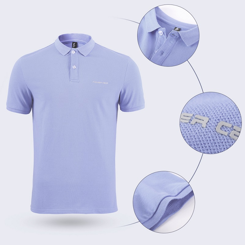 Men Polo Shirt Men Business Casual Solid Male Polo Shirt Short Sleeve High Quality Pure Cotton 34