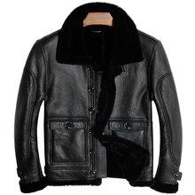 무료 배송. 브랜드 뉴 mens 100% shearling jacket, man 정품 가죽 자켓. 겨울 두꺼운 양 모피 코트, 부드러운 양모