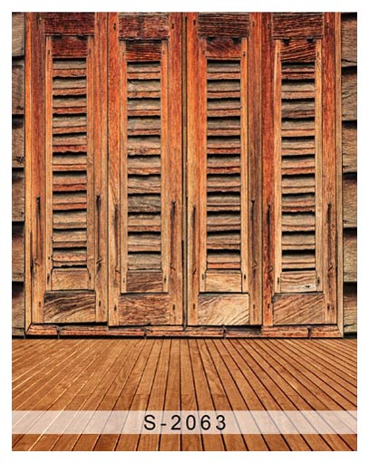 5x7ft Vintage Peru Wooden Doors Wood Floor Custom Photo Studio Backdrop Background Banner Vinyl 220cm X 150cm Without Return