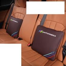 Lsrtw2017 Fiber Leather Car Seat Headrest Lumbar Pillow Arm Pillow for Bmw X1 X3 X5 import seat qfp100 burner seat zy510b adapter zlg x5 x8 5000u programming seat