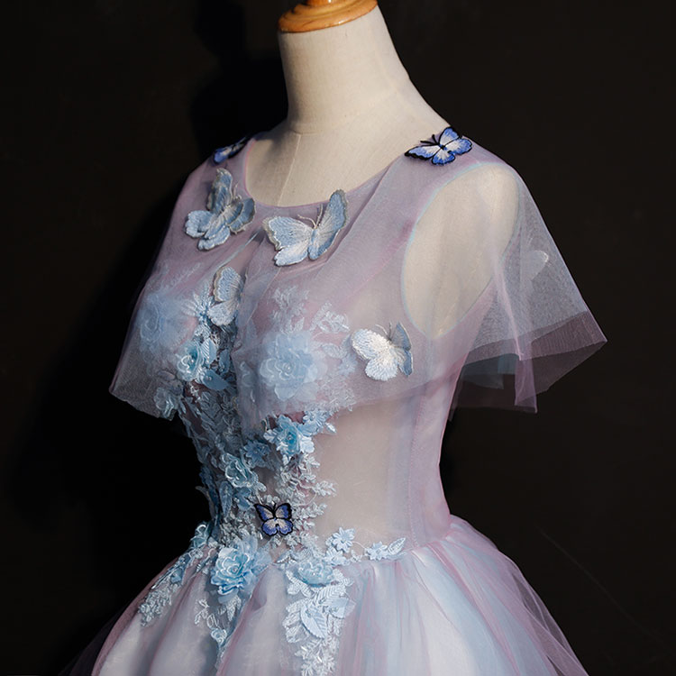 luxury butterfly embroidery flowers short lolita/alice/cartoon/carnival cosplay