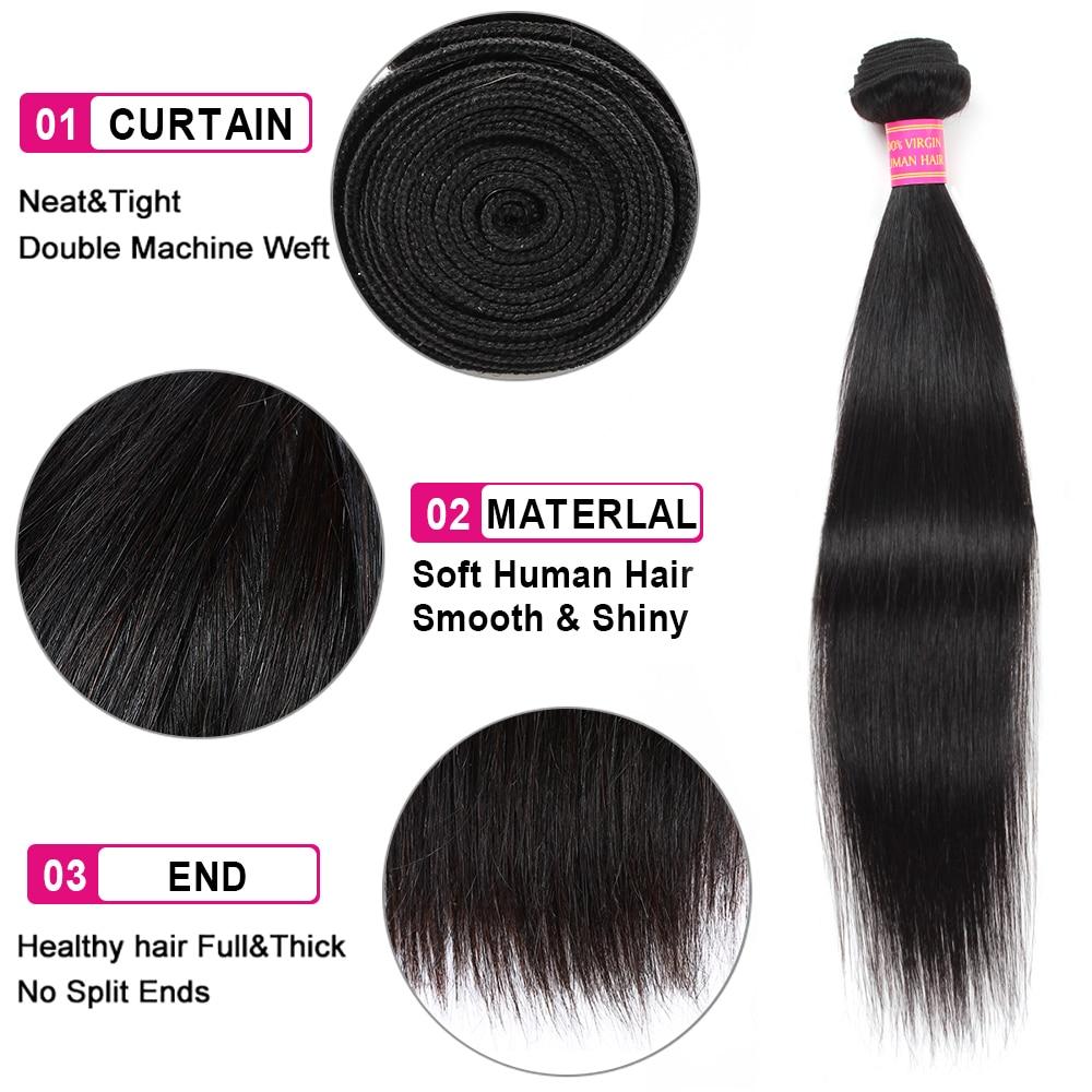 Meetu Peruvian Straight Hair Bundles 100% Real Human Hair Weave 4 - Beauty Supply - Photo 3