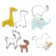 4pcs Metal Cookie Cutters Animals Stainless Steel Cookie Mould Pastry Cutter Fondant Set Kitchenaid Tools For Baking Supplies