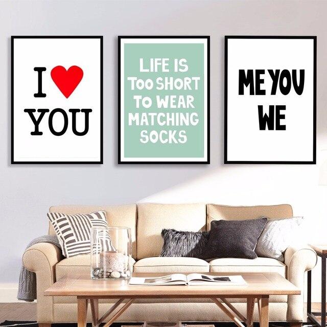 Liefde Inspiratie Quote Canvaskunst Schilderij Poster Muur Foto Voor ...