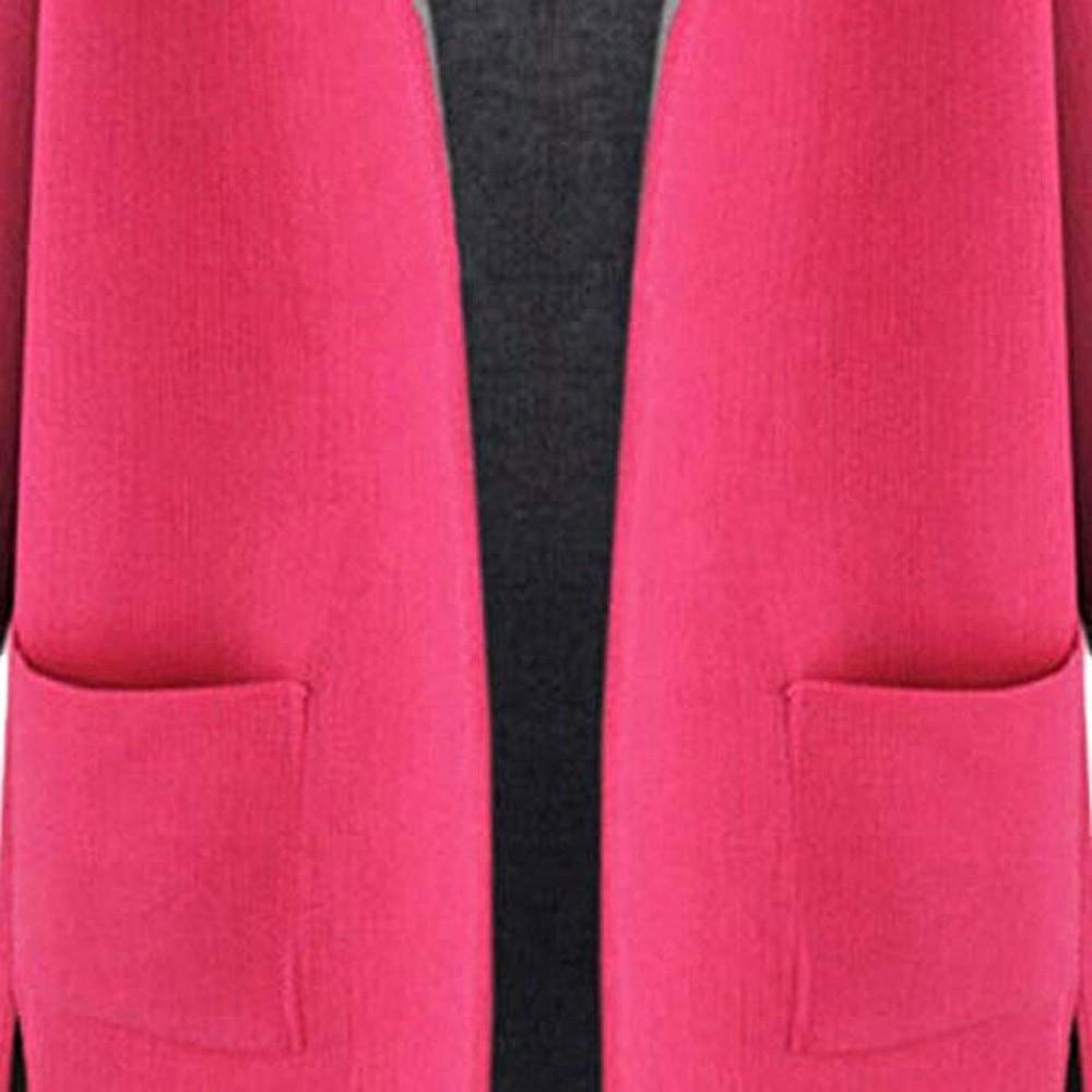 Rosa Pink Mujeres Medio Las Flojo yellow Tamaño Amarillo Abrigos De Largo Moda 2018 Chaqueta Por Gran Abierto Frente Lana Abrigo Colores El FRnEzTwxtq