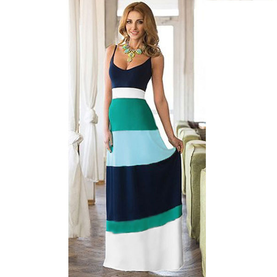 603e796e28 Maxi Dress Summer Dress in Blue Sundress for Women