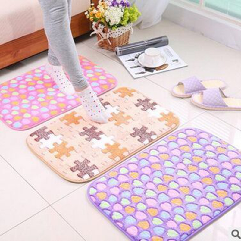 Fashion Design 2016 Hot Sale Living Room Carpet Nine Colors Bath Mat Soft Touch High Qulity