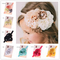 1PCS Shabby Chic Headband Baby Hair Flowers Headbands Newborn Baby Hair Bows Hair Accessories Bows Photo Prop