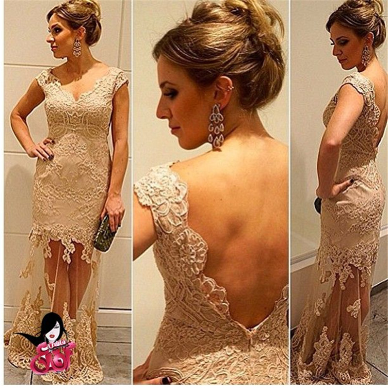 Online Buy Wholesale beige lace prom dress from China beige lace ...