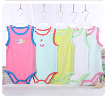 ФОТО kavkas 4pcs summer baby rompers cotton baby girl clothes baby boy clothes roupas bebe newborn baby clothes infant jumpsuits