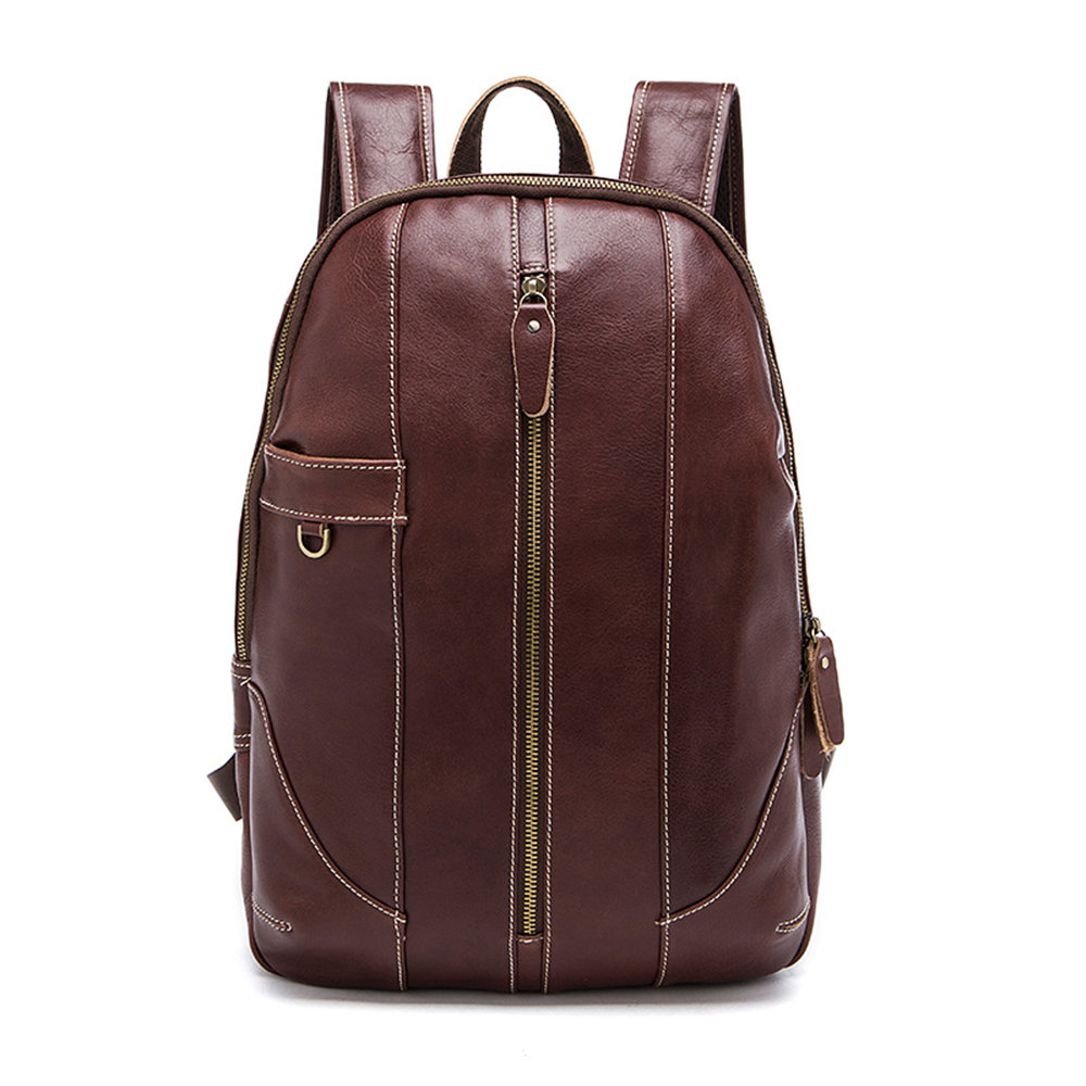 Genuine Leather Men Backpack Vintage Retro Casual Travel School Laptop Backpacks Advanced Big Capacity Daily Rucksack Backpack brand vintage 100% genuine cow leather womens daily school backpack ipad backpacks rucksack for travel casual mochila masculina