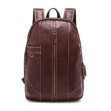 Genuine Leather Men Backpack Vintage Retro Casual Travel School Laptop Backpacks Advanced Big Capacity Daily Rucksack Backpack