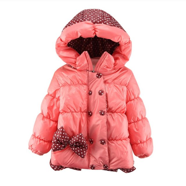 Winter Kids Down Coat Jacket Baby Girl Parkas Warm Padded Coats Hooded Children Outerwear CY1