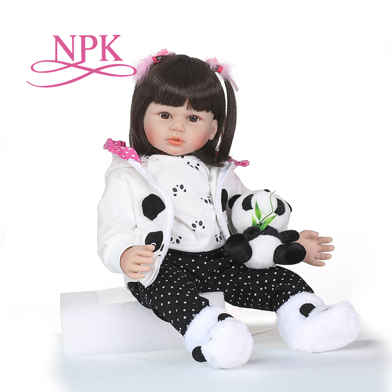 NPK 23 Handmade silicone reborn dolls Real girl baby reborn dolls children gift bonecas brinquedos bebe doll reborn for girl